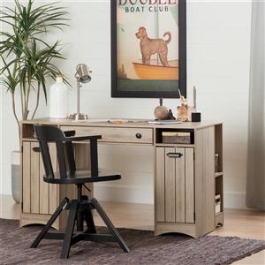 South Shore Furniture Artwork Craft Table with Storage - Rustic Oak