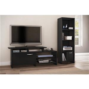 South Shore Furniture Step One TV Stand - 51.61-in x 15.51-in x 20.03-in - Black