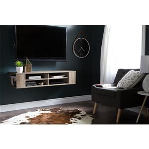 South Shore Furniture City Life Wall-Mounted Media Console - Brown