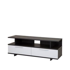 South Shore Furniture Reflekt TV Stand - 59.25-in x 18.25-in x 21.75-in - Gray