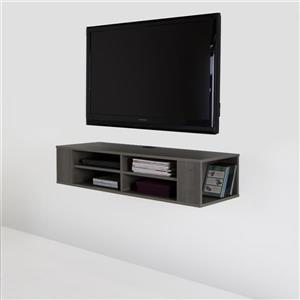 South Shore Furniture City Life Wall-Mounted Media Console - Gray