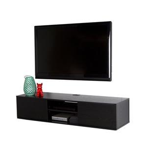 South Shore Furniture Agora Wall-Mounted Media Console - Black