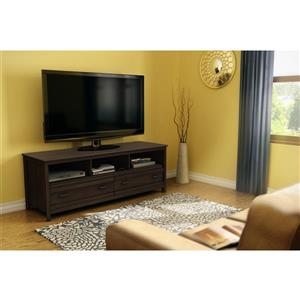 South Shore Furniture Exhibit TV Stand - 59.25-in x 17.5-in x 22.5-in - Brown