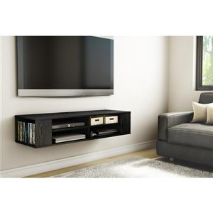 South Shore Furniture City Life Wall-Mounted Media Console - Black