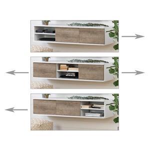 South Shore Furniture Agora Wall-Mounted Media Console - White
