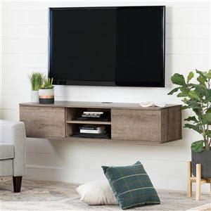 South Shore Furniture Agora Wall-Mounted Media Console - Brown