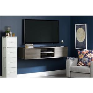 South Shore Furniture Agora Wall-Mounted Media Console - Gray