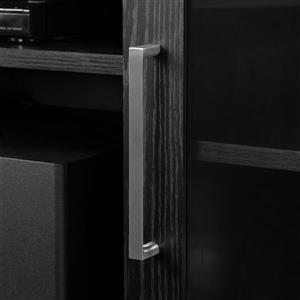 South Shore Furniture Adrian TV Stand - 70.25-in x 16-in x 28-in - Black