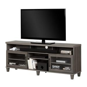 South Shore Furniture Adrian TV Stand - 70.25-in x 16-in x 28-in - Gray