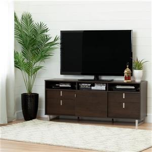 South Shore Furniture Uber TV Stand - 61-in x 16.5-in x 25.5-in - Brown