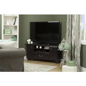 South Shore Furniture Noble Corner TV Stand - 46-in x 17.75-in x 22.25-in - Black
