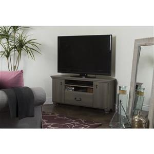 South Shore Furniture Noble Corner TV Stand - 46-in x 17.75-in x 22.25-in - Gray