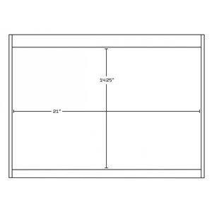 "American Imaginations Xena Vanity Set  - Double Sink - 74.5"" - Gray"