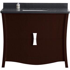 """American Imaginations Bow Vanity Set  - Single Sink - 47.6"""" - Brown"""
