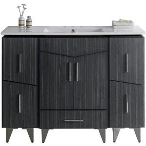"""American Imaginations Zen Vanity Set  - Single Sink - 48"""" - Gray"""