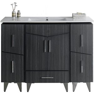 Zen 48-in Plywood-Melamine Vanity Set