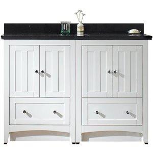 "American Imaginations Shaker Vanity Set  - Double Sink - 47.5"" - White"