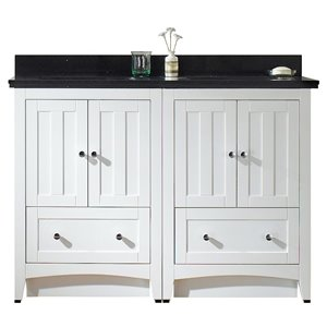 "American Imaginations Shaker Vanity Set  - Double Sink - 47.5"" - White"