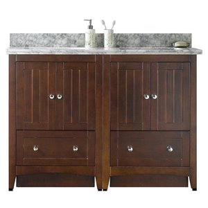 "American Imaginations Shaker Vanity Set  - Double Sink - 47.5"" - Brown"