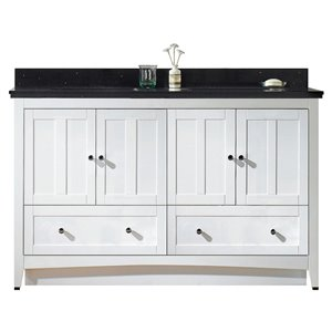 "American Imaginations Shaker Vanity Set  - Double Sink - 59"" - White"