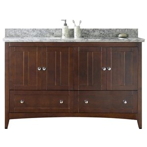 "American Imaginations Shaker Vanity Set  - Double Sink - 59"" - Brown"