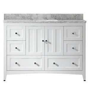 "American Imaginations Shaker Vanity Set  - Single Sink - 47.5"" - White"
