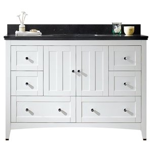 "American Imaginations Shaker Vanity Set  - Single Sink - 47.6"" - White"