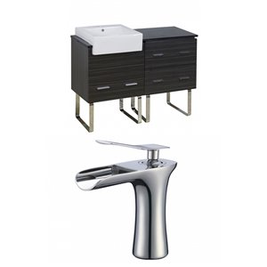 Xena Farmhouse 48-in Floor Mount Vanity Set For 1 Hole Drilling