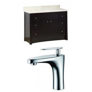 """American Imaginations Elite Vanity Set  - Single Sink - 47.6"""" - Brown"""