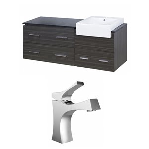 48-in Xena Farmhouse Wall Mount Vanity Set For 1 Hole Drilling