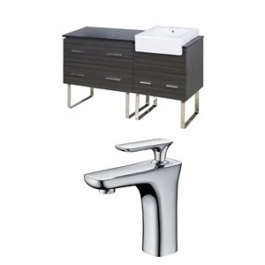 48-in Xena Farmhouse Floor Mount Vanity Set For 1 Hole Drilling