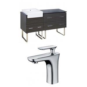 "American Imaginations Xena Farmhouse Vanity Set  - Single Sink - 60.75"" - Gray"