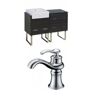 Xena Farmhouse Floor Mount Vanity Set For 1 Hole Drilling