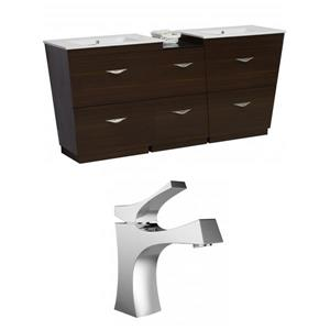 American Imaginations Vee Vanity Set - Double Sink - 56 ...