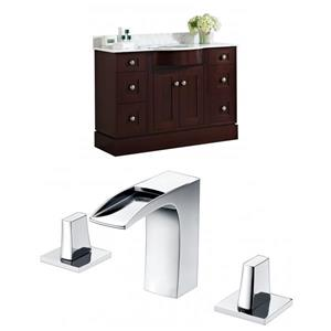 Tiffany 48-in Floor Mount Vanity Set
