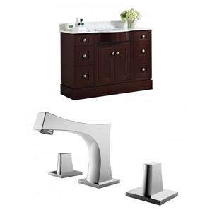 Tiffany 49.5-in Floor Mount Vanity Set