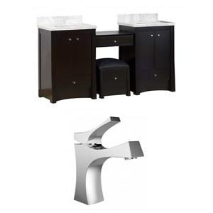 "American Imaginations Elite Vanity Set  - Double Sink - 68.75"" - Brown"