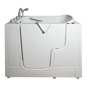 Aquam Spas Walk-in Left Hand Tub - 52-in x 32-in - White