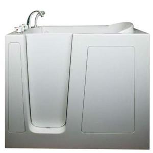 Aquam Spas Walk-in Left Hand Tub - 55-in x 30-in - White