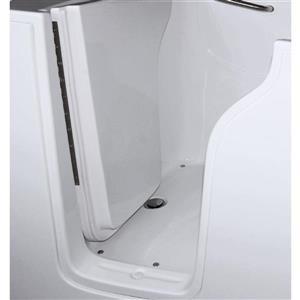 Aquam Spas Walk-in Left Hand Tub - 55-in x 33-in - White