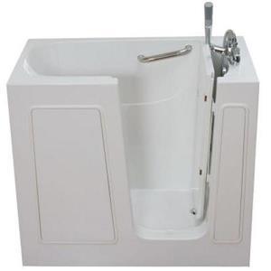 Aquam Spas Walk-in Right Hand Tub - 45-in x 26-in - White