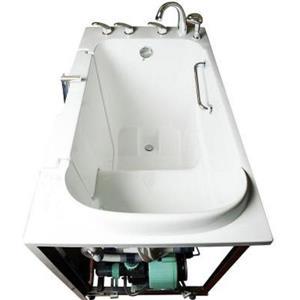Aquam Spas Walk-in Right Hand Tub - 52-in x 32-in - White