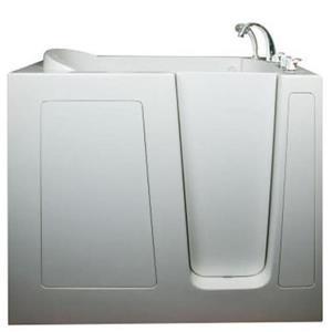 Aquam Spas Walk-in Right Hand Tub - 55-in x 30-in - White