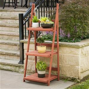 "Leisure Season 3-Tier A-frame Wooden Plant Stand - 24"" x 18 -in x 60"""