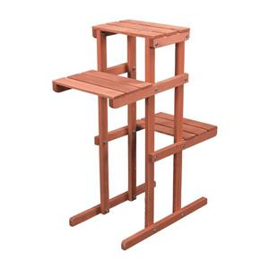 Leisure Season 3-Tier Wooden Plant Stand -    30-in x 12-in x 24-in