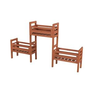 Leisure Season Wooden Stacking Plant Stand - 20-in W x 9-in D x 48-in H
