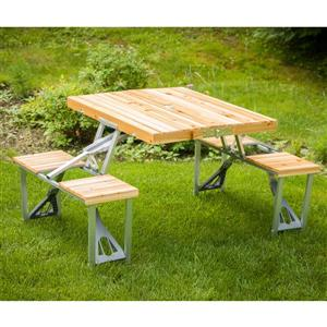 Leisure Season Portable Folding Picnic Table 33 X 28