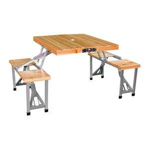 Leisure Season Portable Folding Picnic Table - 33'' x 28'' x 26''