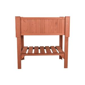 Leisure Season Raised Wooden Planter Box - 36'' x 24'' x 36''