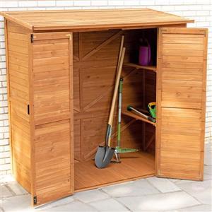 Leisure Season Extra-large outdoor storage shed - Cedar